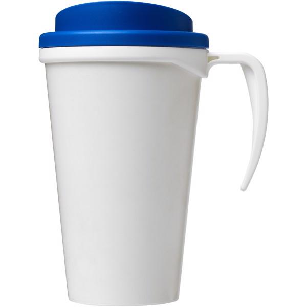 Brite-Americano® Vaso térmico grande de 350 ml - Blanco / Azul medio