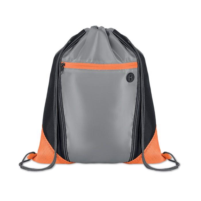 Worek plecak Shoop Grey - pomarańczowy