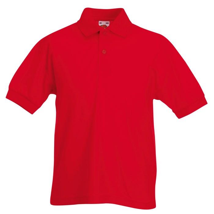 Dziecięca Koszulka polo 170 65/35 Kids Polo 63-417-0 - Czerwony / XL