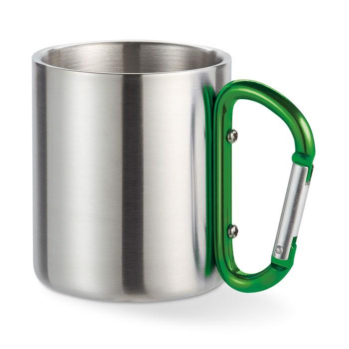 Metal mug & carabiner handle Trumbo - Green