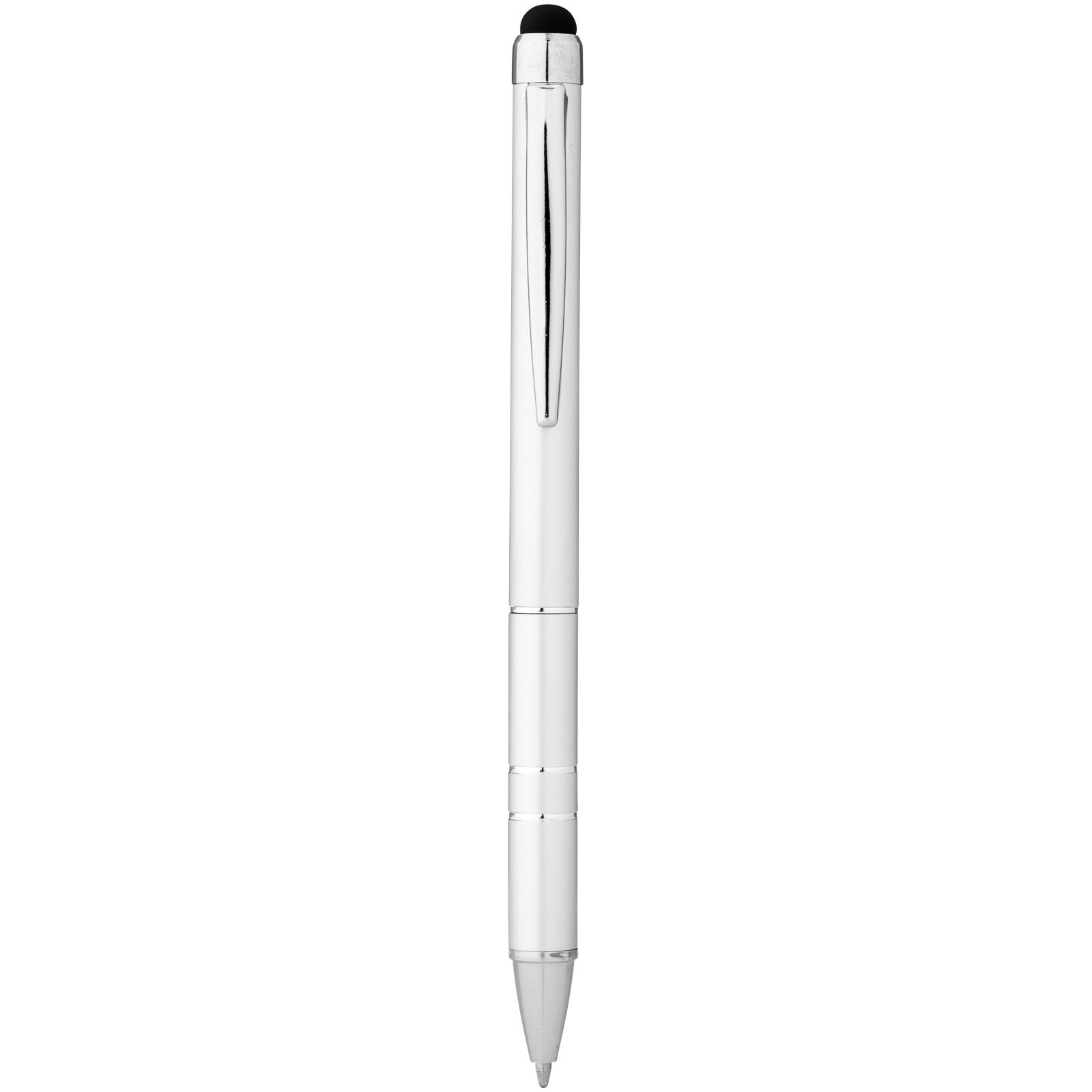 Kuličkové pero a stylus Charleston - Stříbrný
