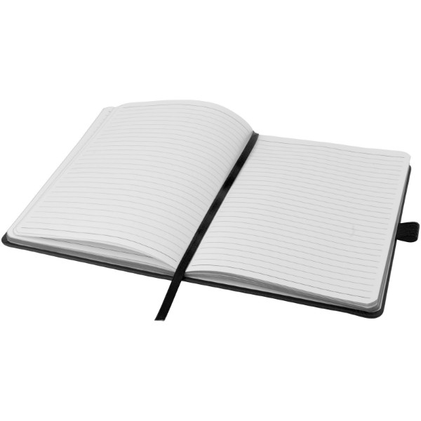 Colour-edge A5 hard cover notebook - Solid black