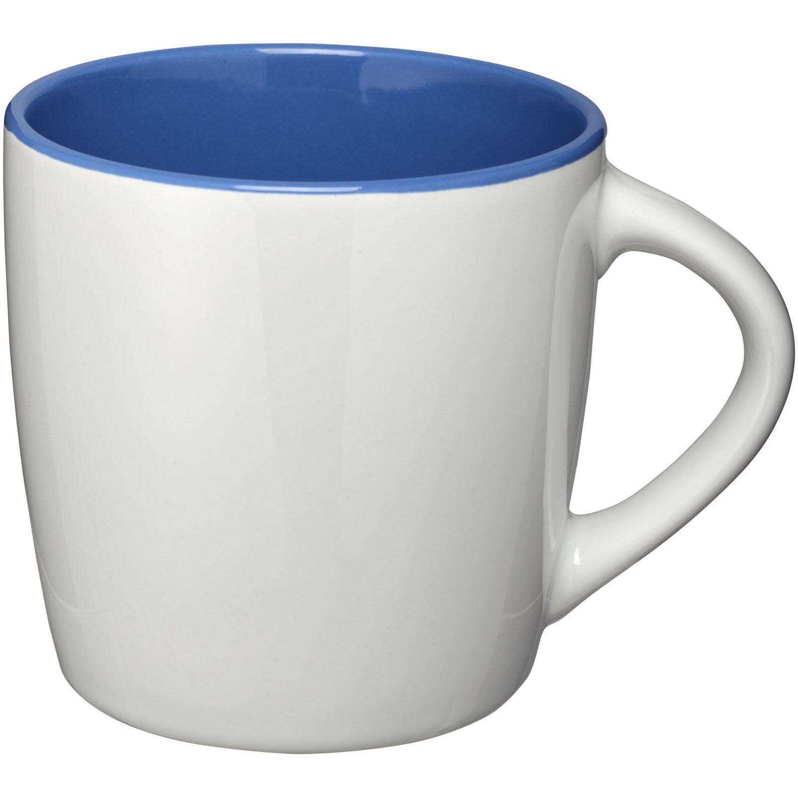 """Taza de cerámica de 340 ml """"Aztec"""" - Blanco / Azul real"""