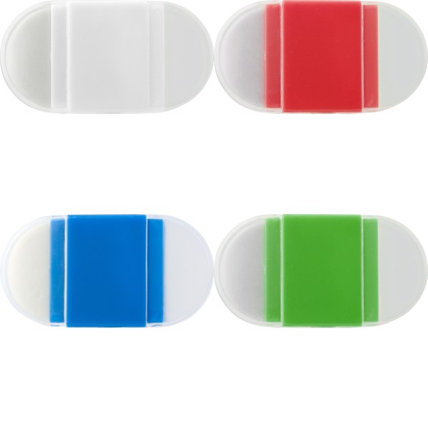 PS pencil sharpener and eraser - Red