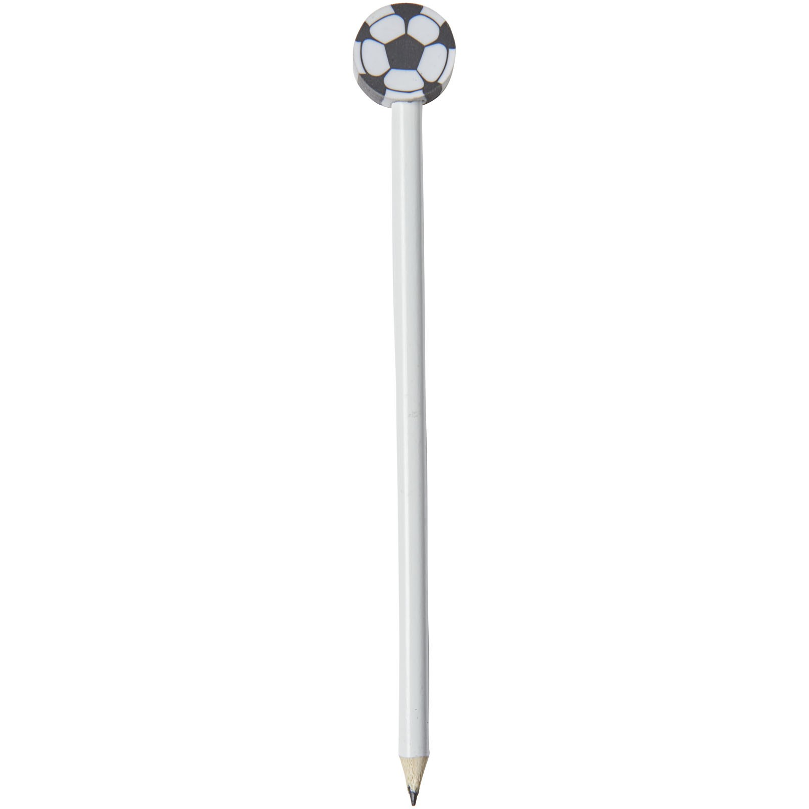 Tužka s fotbalovou gumou Goal - Bílá