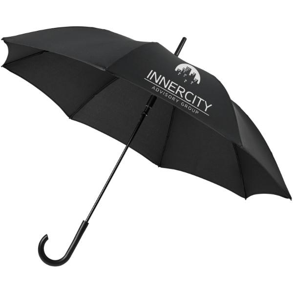"""Kaia 23"""" větruodolný barevný deštník s automatickým otvíráním - Černá"""