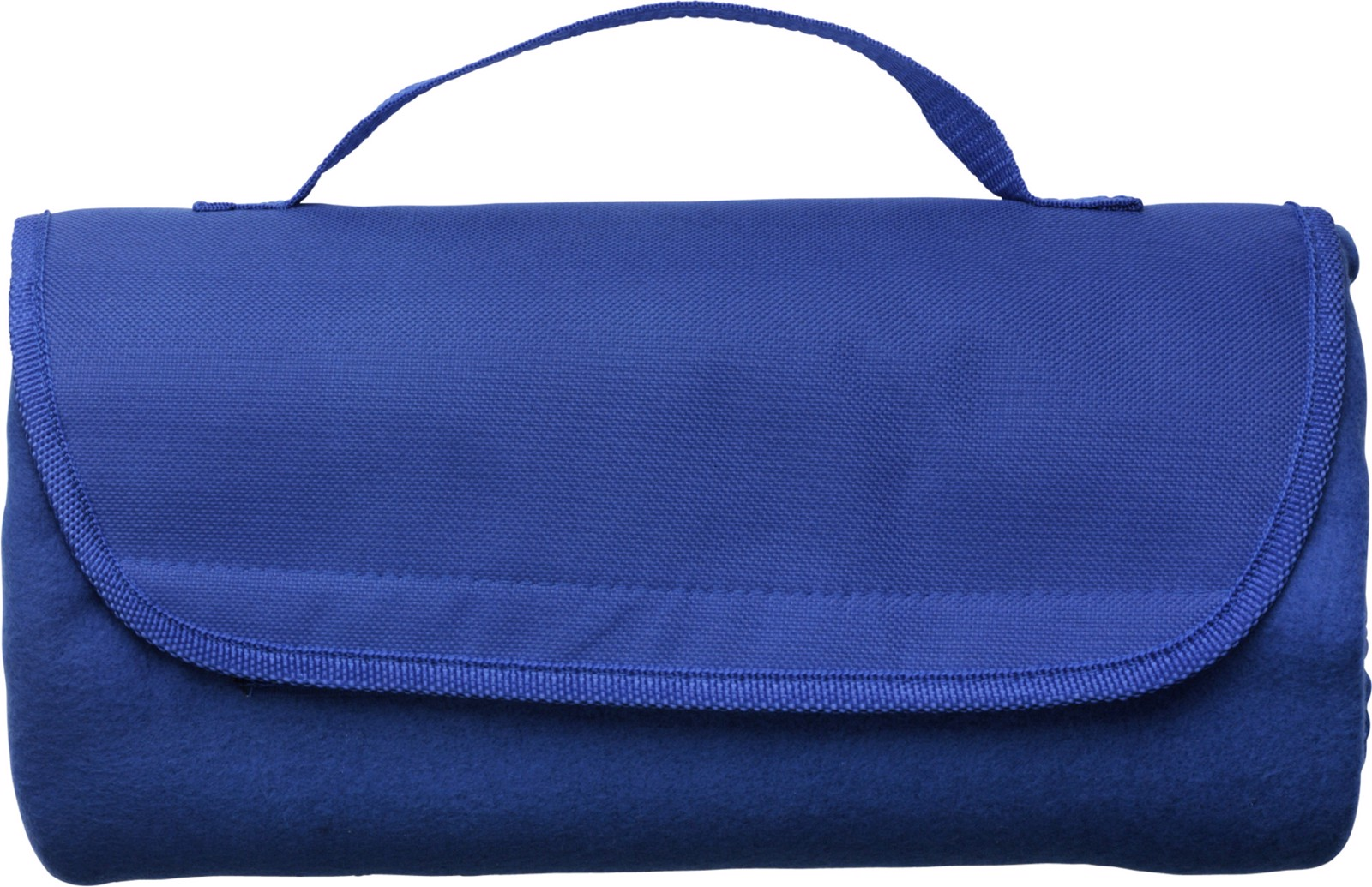 Fleece (165 g/m²) travel blanket - Cobalt Blue