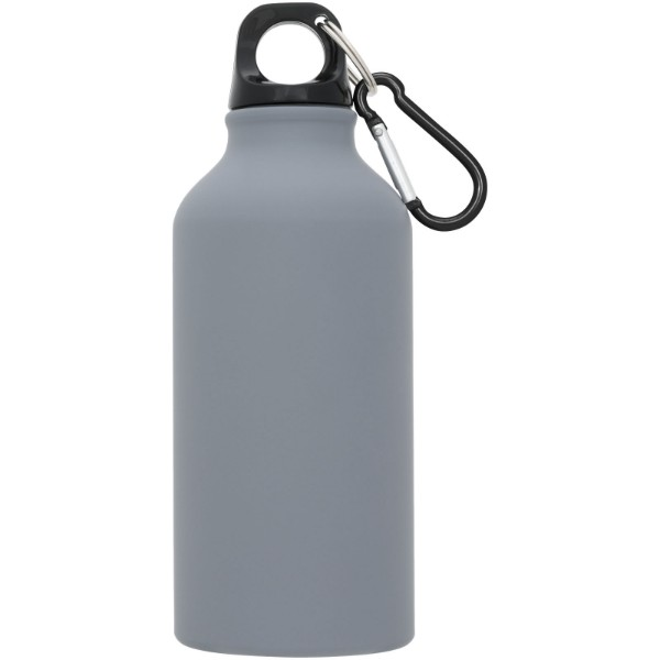 Oregon 400 ml matte sport bottle with carabiner - Grey