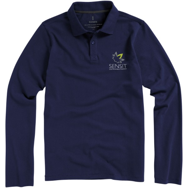 Oakville long sleeve men's polo - Navy / XL