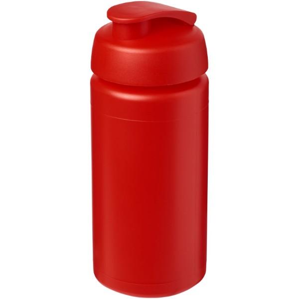 Sportovní láhev s vyklápěcím víčkem Baseline® Plus grip 500 ml - Červená s efektem námrazy