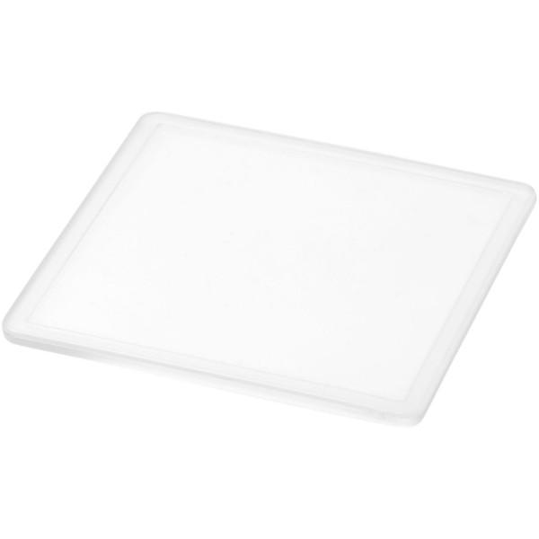 Ellison square plastic coaster with paper insert