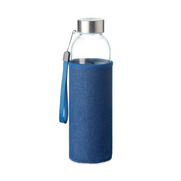 Szklana butelka w etui 500 ml Utah Denim