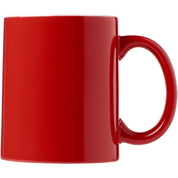 Java 330 ml ceramic mug - Red / White