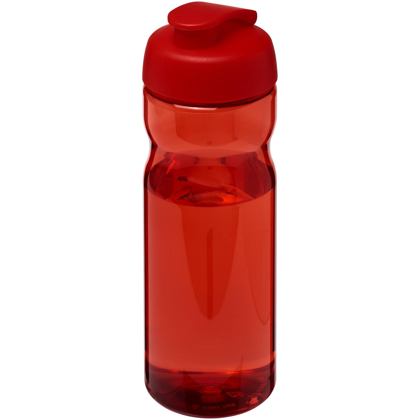Sportovní láhev s vyklápěcím víčkem H2O Base® 650 ml - Červená s efektem námrazy