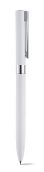 CLARE. Hliníkové kuličkové pero - Bílá