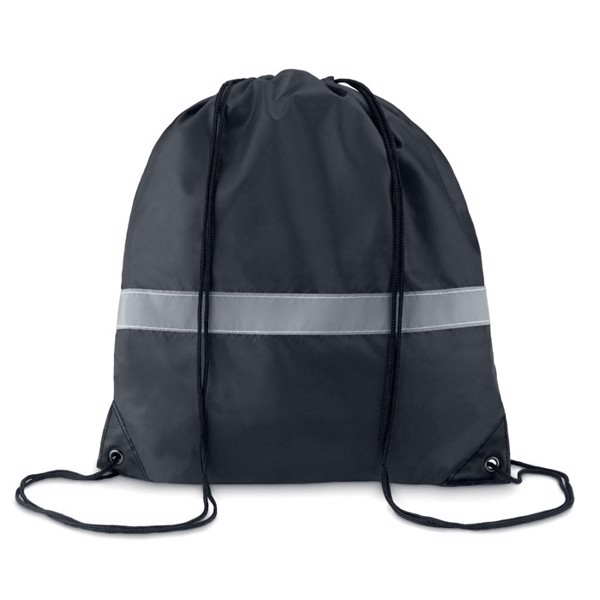 Drawstring reflective stripe - Black