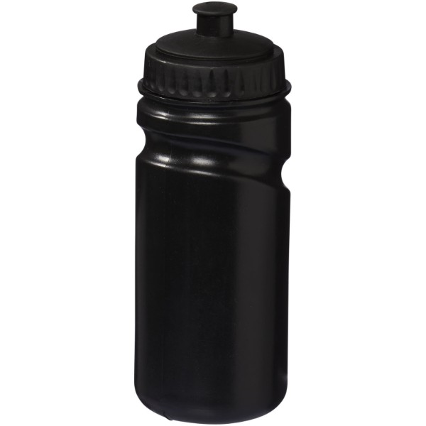Easy-squeezy 500 ml colour sport bottle - Solid black