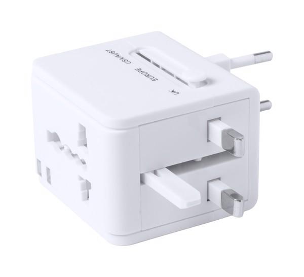 Travel Adapter Celsor - White