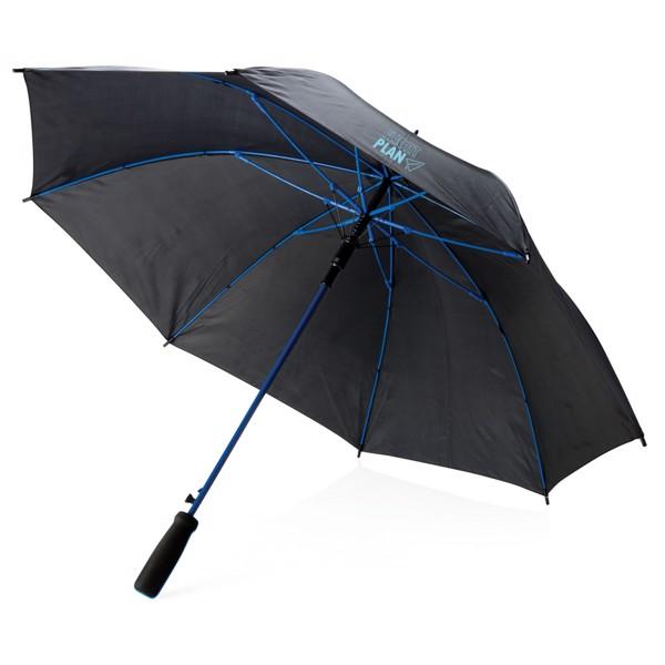 """Barevný 23"""" deštník ze sklolaminátu - Modrá / Černá"""