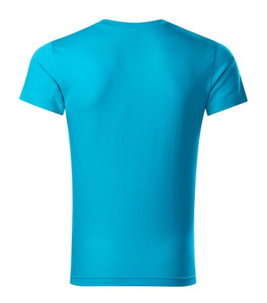 T-shirt men's Malfini Slim Fit V-neck - Blue Atoll / 3XL
