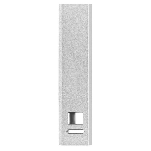 Aluminium Power Bank Poweralu - matt silver
