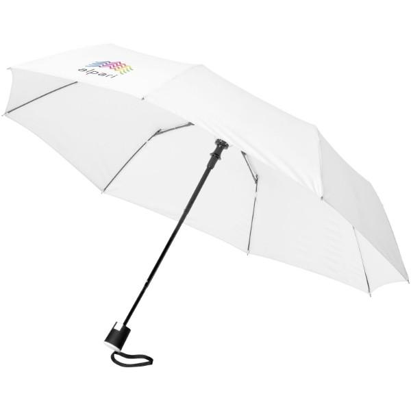 """Skládací deštník Wali 21"""" s automatickým otvíráním - Bílá"""
