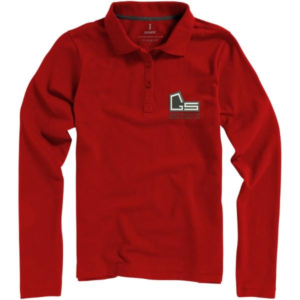 Oakville long sleeve women's polo - Red / XS