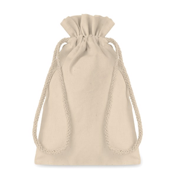 Small Cotton draw cord bag Taske Small
