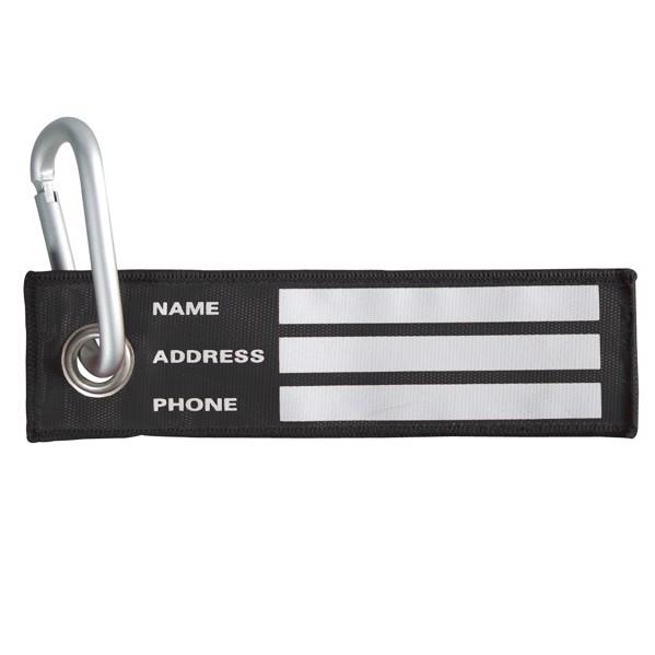"Luggage Tag ""Carabiner"" - Black"