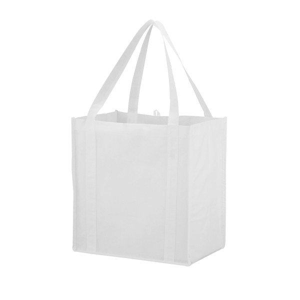 Juno small bottom board non-woven tote bag - White