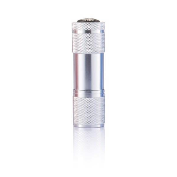 Quattro alumínium zseblámpa - Ezüst Színű