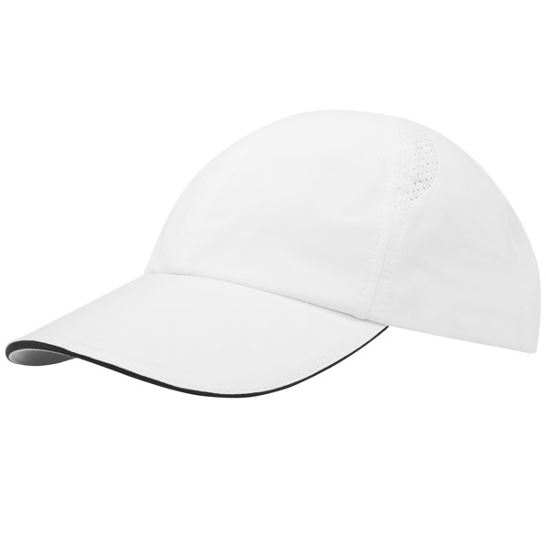 Morion 6 panel GRS recycled cool fit sandwich cap - White