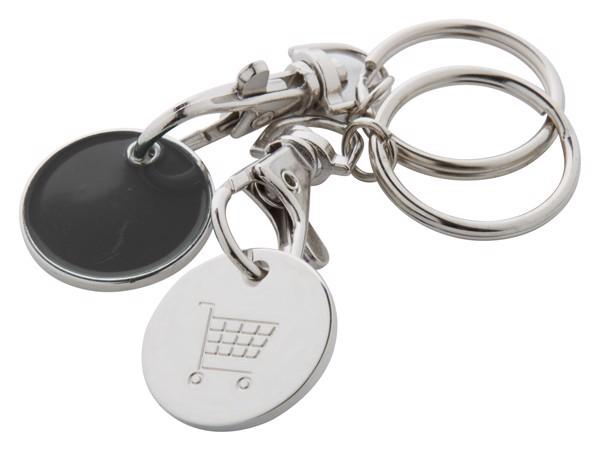 Přívěšek Na Klíče Se Žetonem Euromarket - Černá