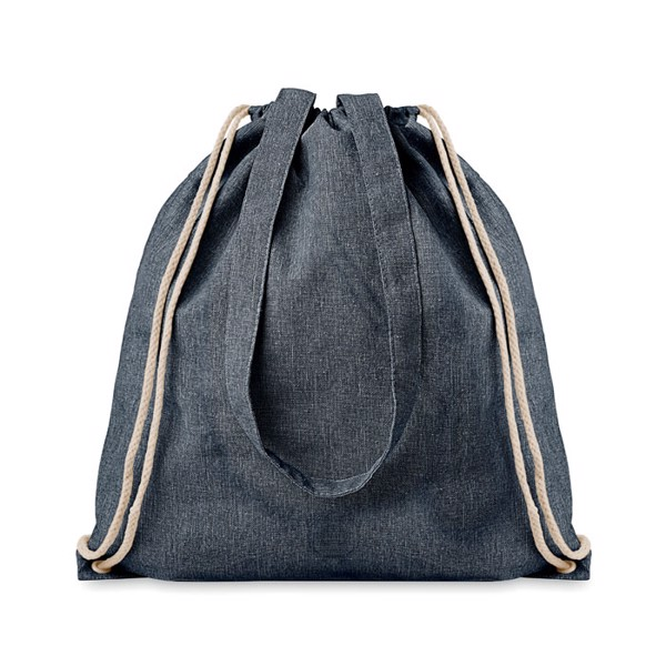 Recycled fabric 2 function bag Moira Duo - Blue