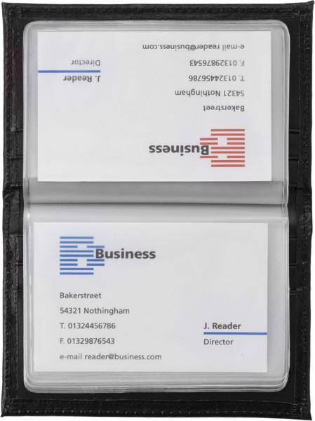Kreditkartenmappe 'Laser-Line' aus Kunstleder