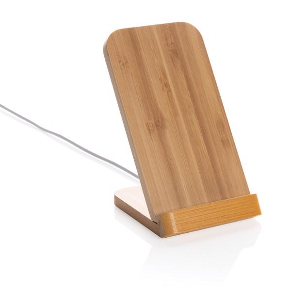 Bambusový stojánek na telefon s bezdrátovým nabíjením 5W