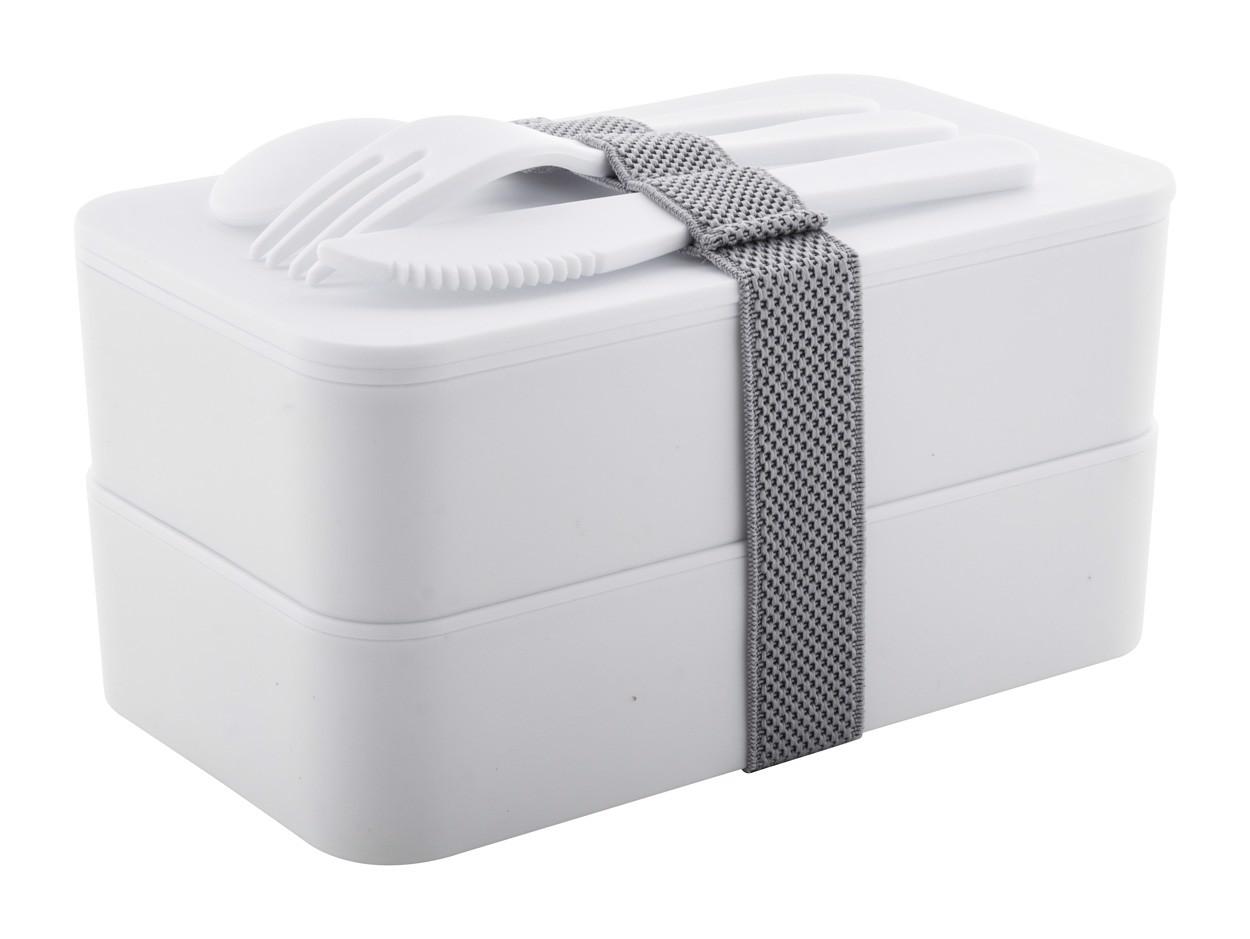 Antibakterijska škatla za malico Fandex - White / Grey