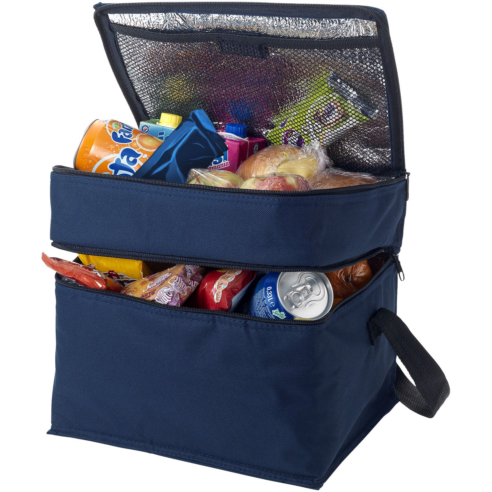 Oslo 2-zippered compartments cooler bag - Navy
