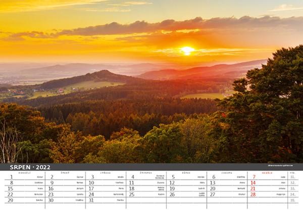 Měsíční kalendář Česká krajina 2022