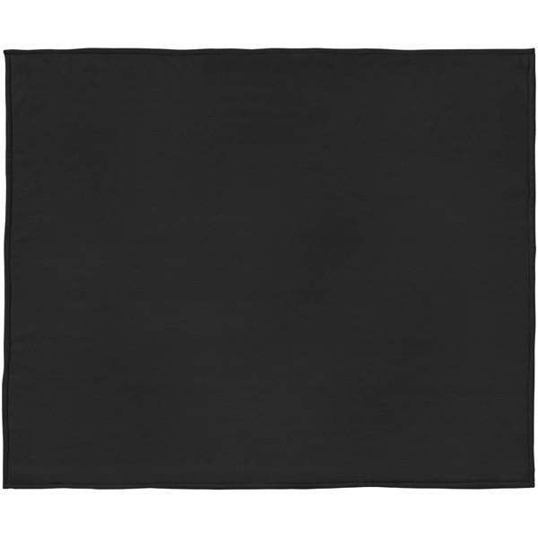 Pléd Springwood z měkkého materiálu fleece a sherpa - Černá / Krémově bílá