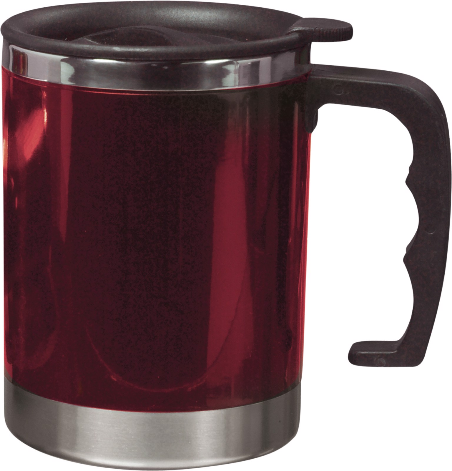 Stainless steel and AS double walled mug - Red