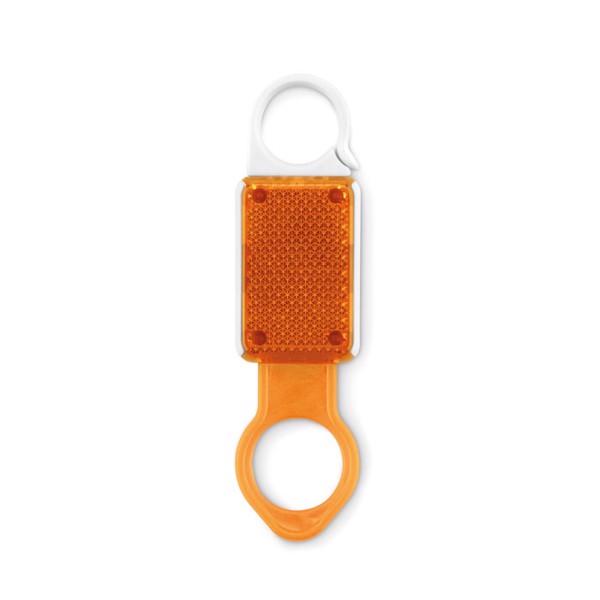 Reflective LED bottle holder Aldrink - Orange