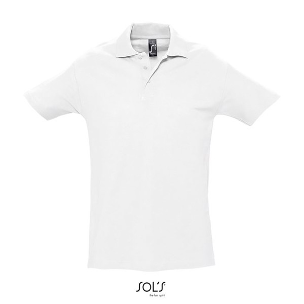 SPRING II-MEN POLO-210g - White / XXL
