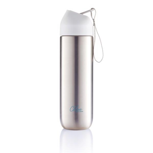 Kovová lahev na vodu Neva - Bílá / Šedá