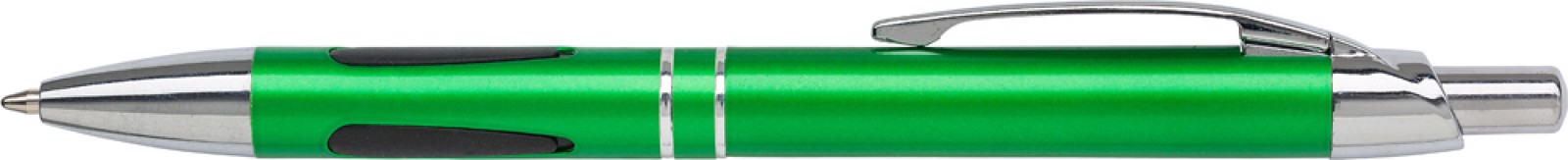 ABS ballpen with rubber grip pads - Light Green