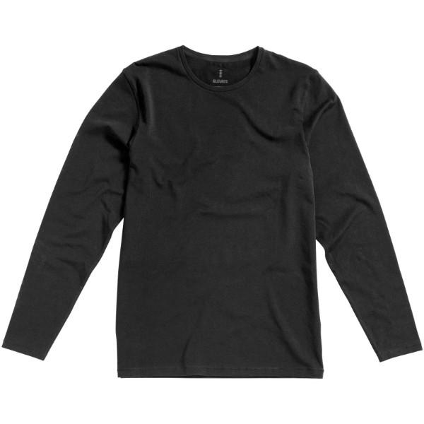 Pánské triko Ponoka s dlouhým rukávem, organická bavlna - Anthracitová / S