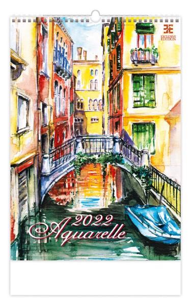 Měsíční kalendář Aquarelle 2022