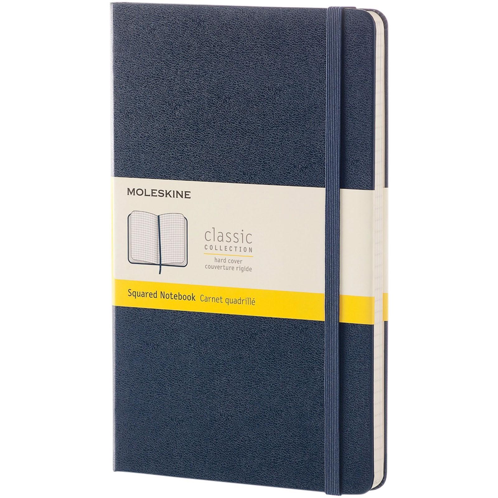 Classic L hard cover notebook - squared - Sapphire Blue