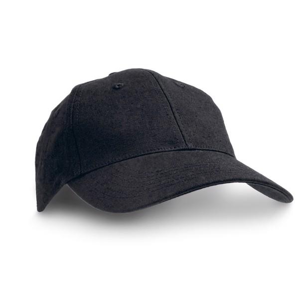 CHRISTIAN. Καπέλο με καμβά από 100% βαμβάκι - Μαύρο