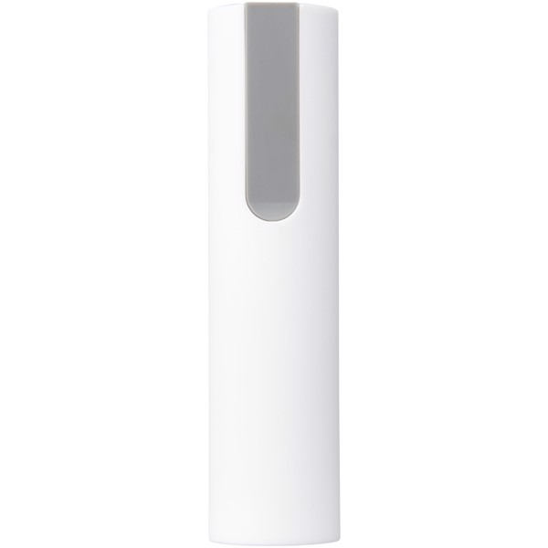 Jinn 2200 mAh power bank with rubber finish - White